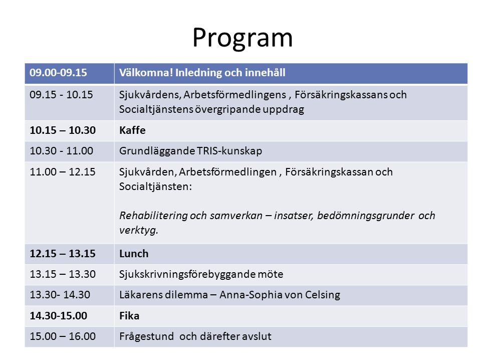 Program 09.00-09.15Välkomna.