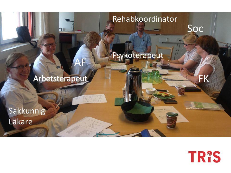 Sakkunnig Läkare AF FK Soc Rehabkoordinator Psykoterapeut