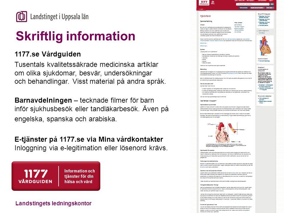 Landstingets ledningskontor 1177.se Vårdguiden Tusentals kvalitetssäkrade medicinska artiklar om olika sjukdomar, besvär, undersökningar och behandlingar.
