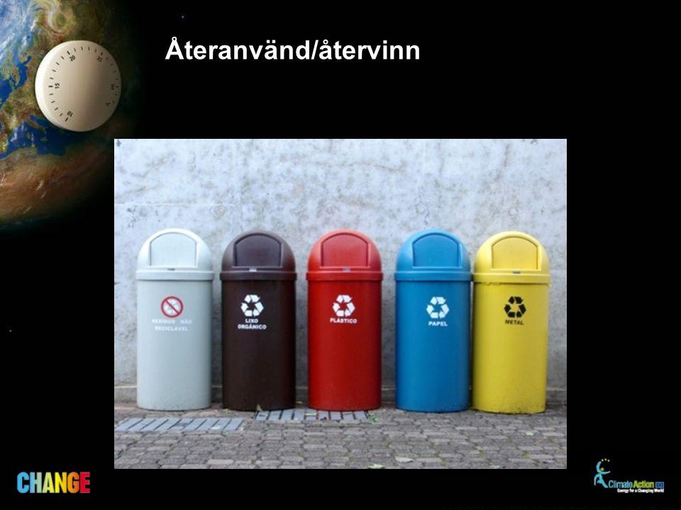 Återanvänd/återvinn