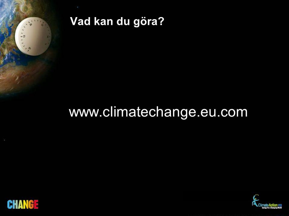 Vad kan du göra? www.climatechange.eu.com