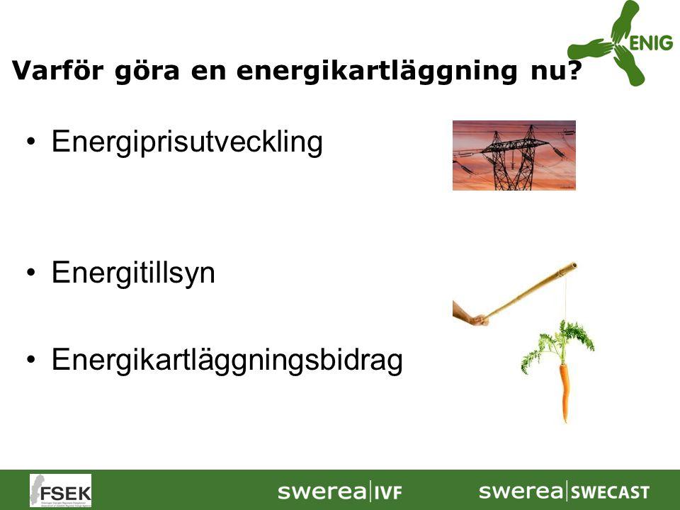 Energiprisutveckling Energitillsyn Energikartläggningsbidrag Varför göra en energikartläggning nu?