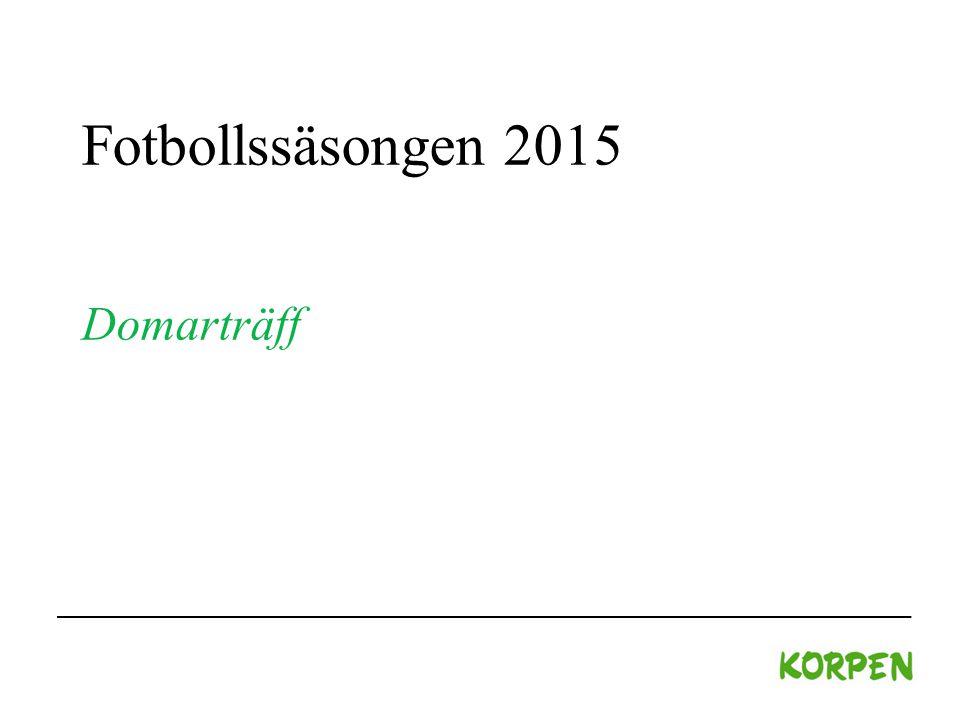 Fotbollssäsongen 2015 Domarträff
