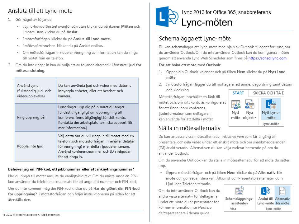 Dela ditt skrivbord eller program Under ett Lync-möte kan du dela ditt skrivbord eller ett program.