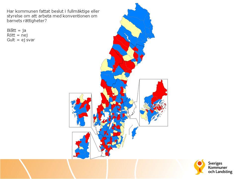 Enkätfrågor Har kommunen, landstinget eller regionen: 1.
