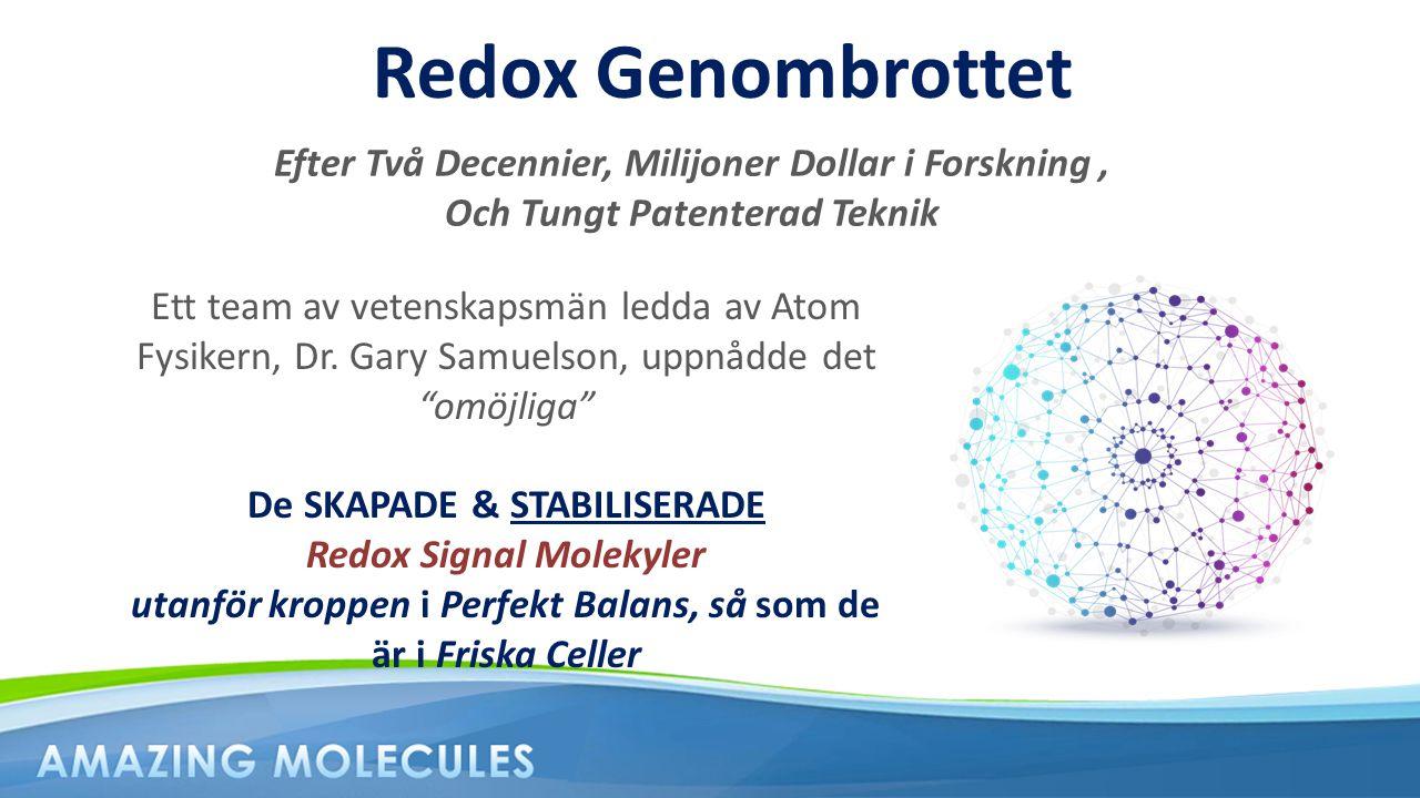Efter Två Decennier, Milijoner Dollar i Forskning, Och Tungt Patenterad Teknik Redox Genombrottet Ett team av vetenskapsmän ledda av Atom Fysikern, Dr