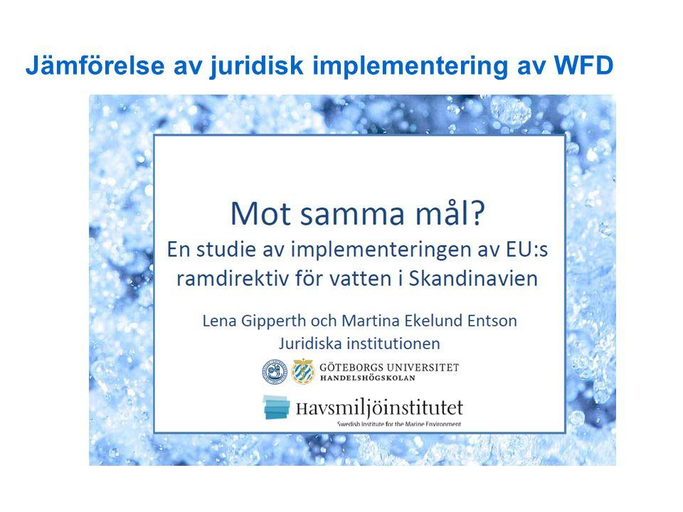 Jämförelse av juridisk implementering av WFD