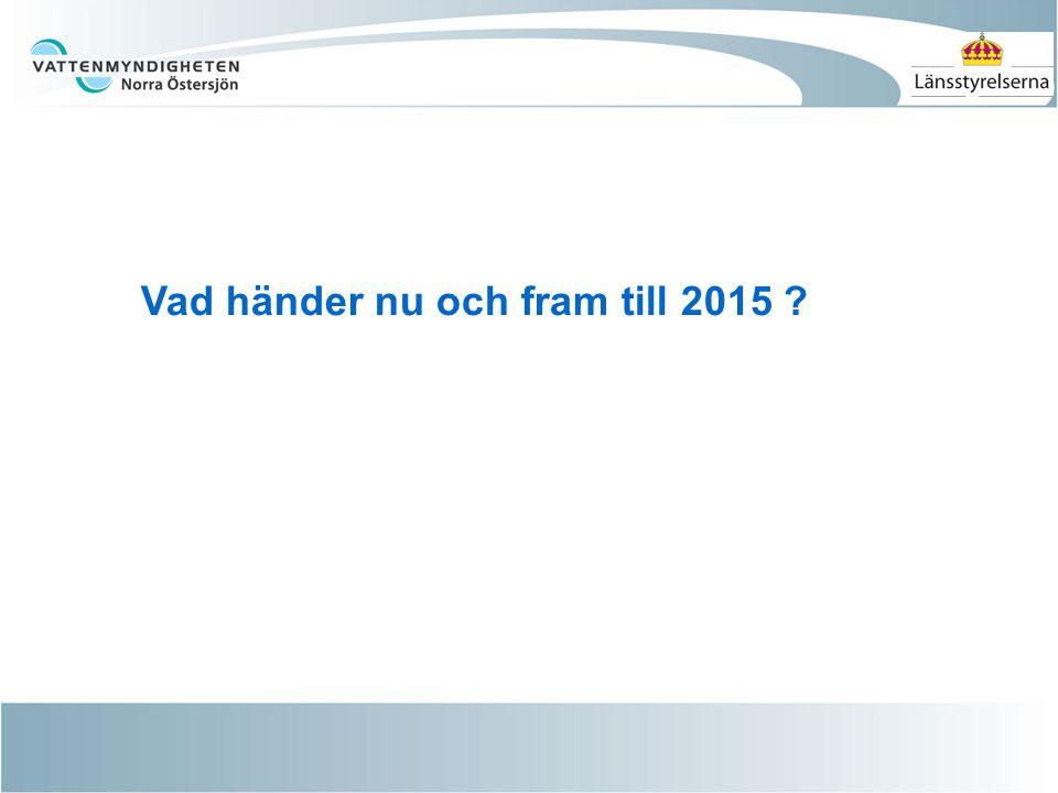 Vad händer nu och fram till 2015