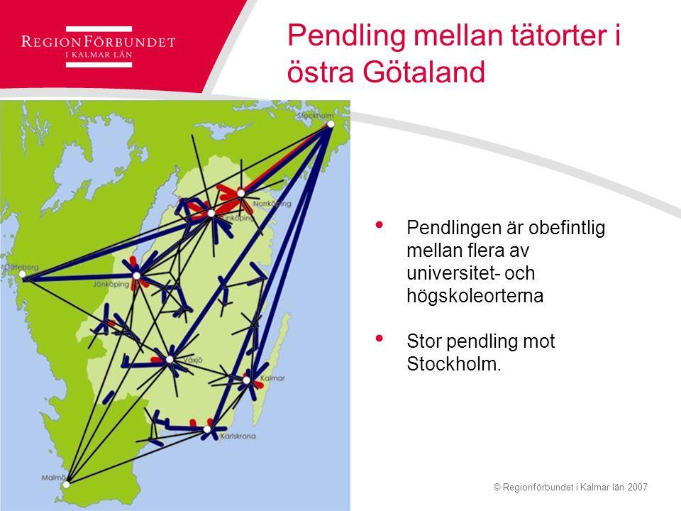 © Regionförbundet i Kalmar län 2007Sidan 13 Slutsatser östra Götaland Bind ihop starka områden Fånga upp mellanliggande områden Tåg – nyckelfråga för hållbar tillväxt Trafiksäkra riksvägar