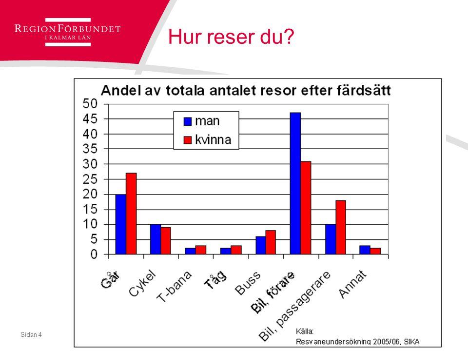 © Regionförbundet i Kalmar län 2007Sidan 5 Många reser på fritiden