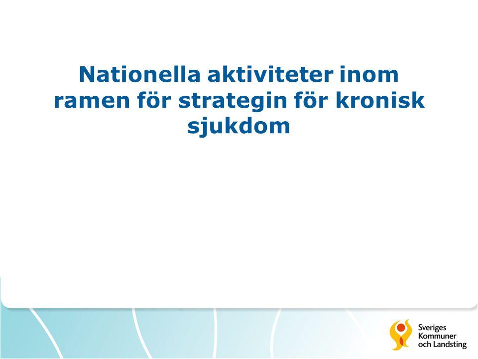 Nationella aktiviteter inom ramen för strategin för kronisk sjukdom