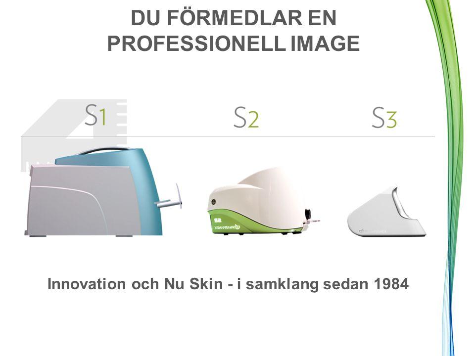 DU FÖRMEDLAR EN PROFESSIONELL IMAGE Innovation och Nu Skin - i samklang sedan 1984