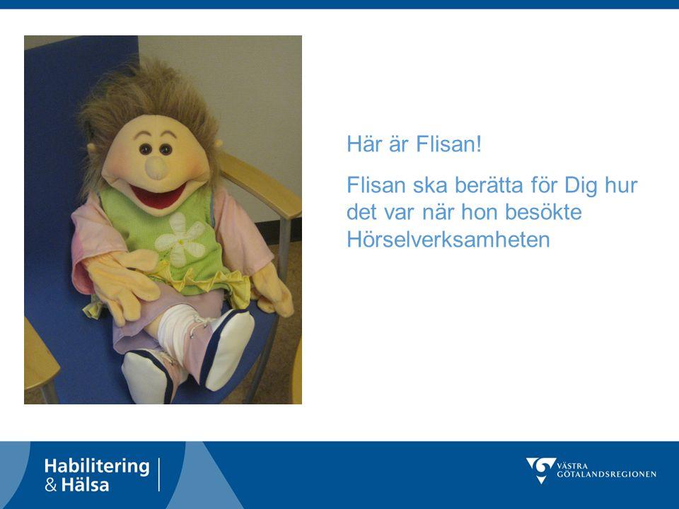 Här är Flisan! Flisan ska berätta för Dig hur det var när hon besökte Hörselverksamheten