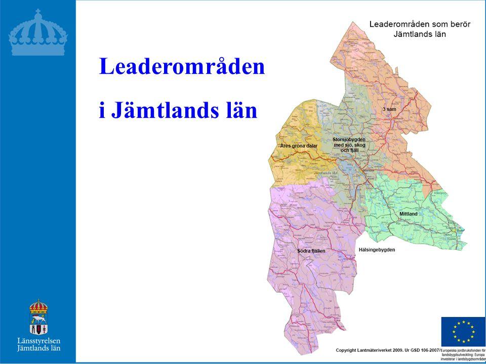 Leaderområden i Jämtlands län