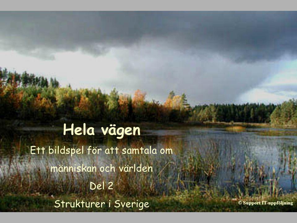 Hela vägen Ett bildspel för att samtala om människan och världen Del 2 Strukturer i Sverige © Support IT-uppföljning