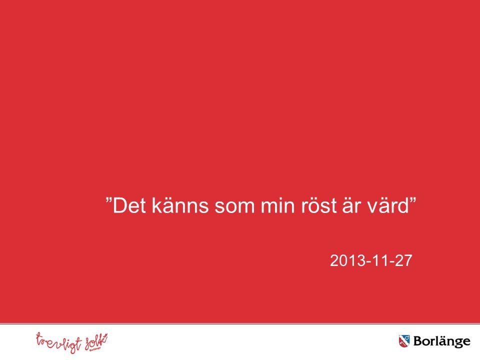 """""""Det känns som min röst är värd"""" 2013-11-27"""