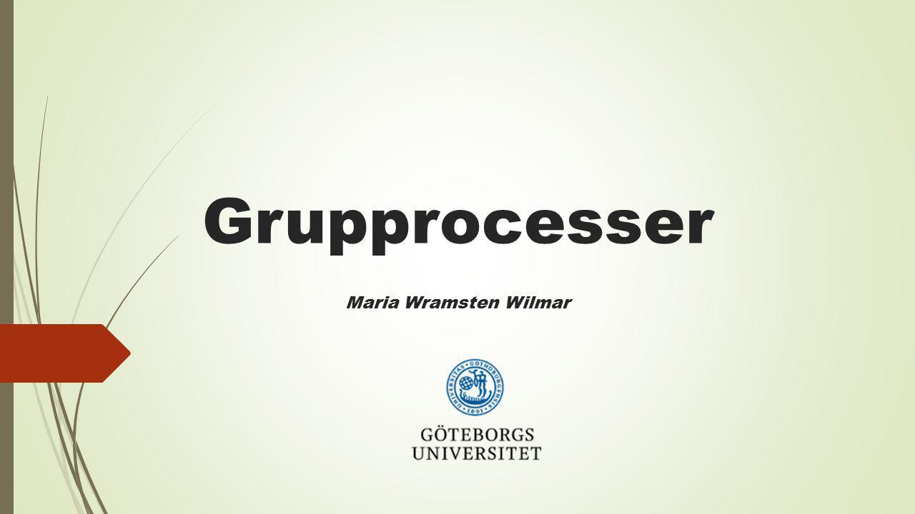 Grupprocesser Maria Wramsten Wilmar
