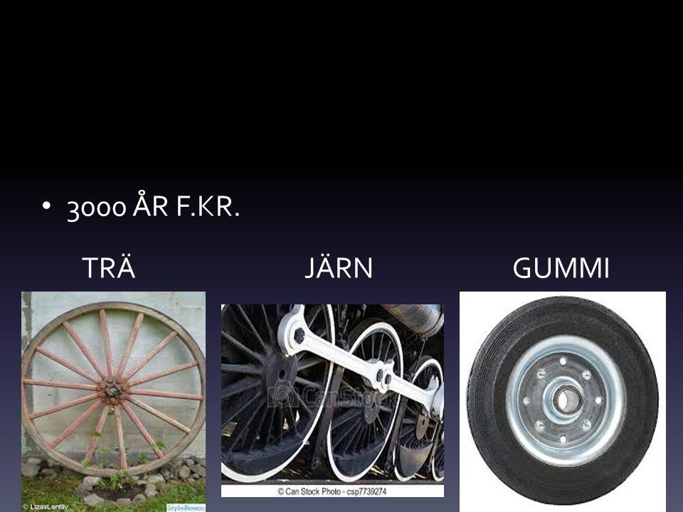 3000 ÅR F.KR. TRÄ JÄRN GUMMI