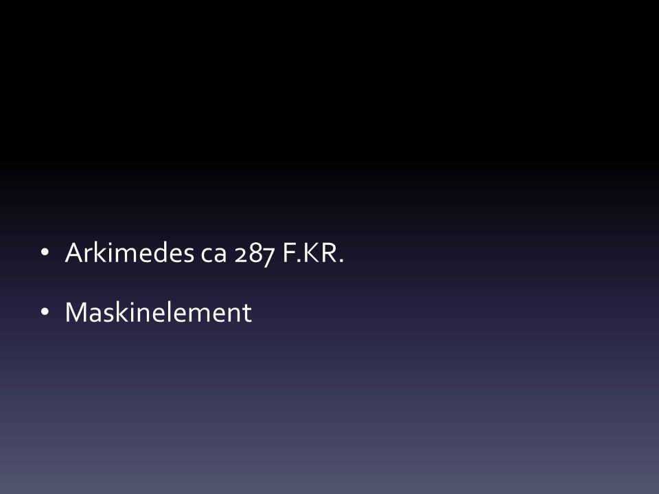 Arkimedes ca 287 F.KR. Maskinelement
