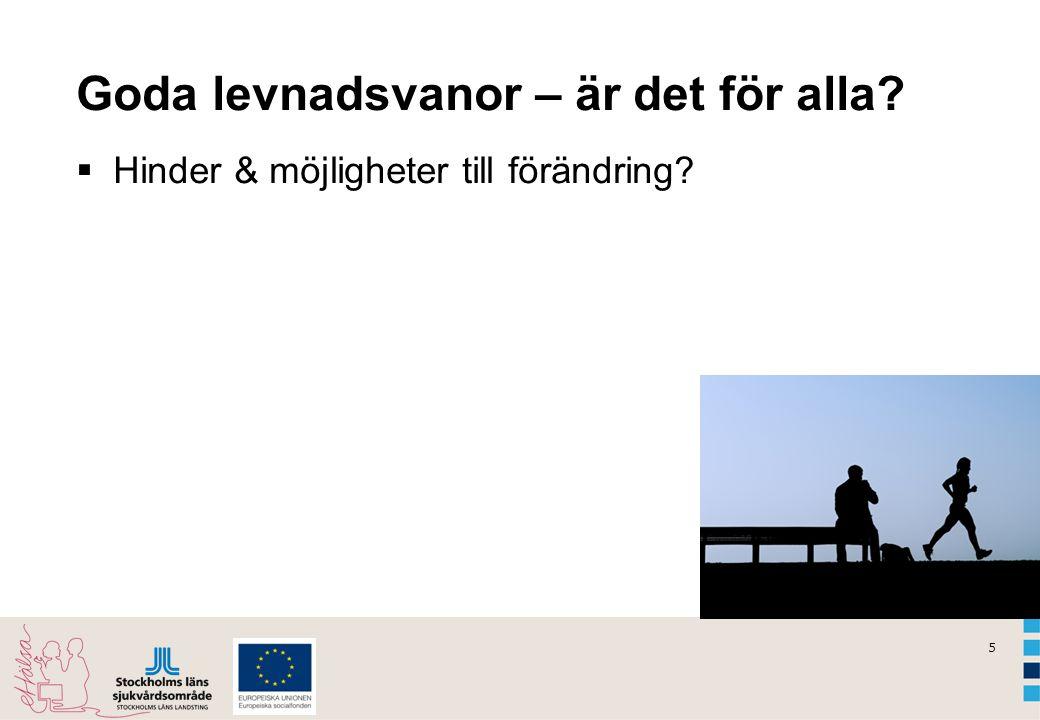 6 Levnadsvanor i Sverige (16 – 84 åringar)  12 % av männen och 16 % av kvinnorna röker dagligen.
