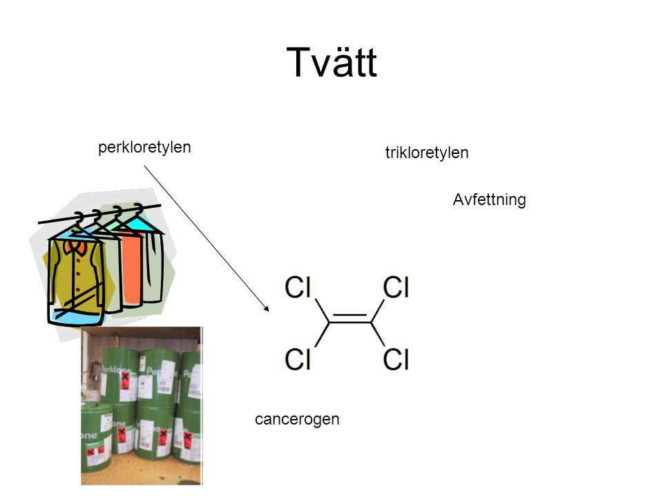 Tvätt perkloretylen trikloretylen cancerogen Avfettning