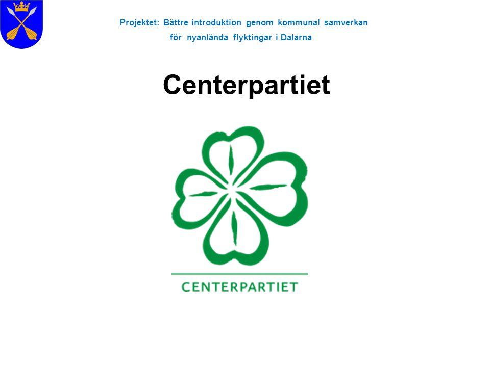Projektet: Bättre introduktion genom kommunal samverkan för nyanlända flyktingar i Dalarna Centerpartiet