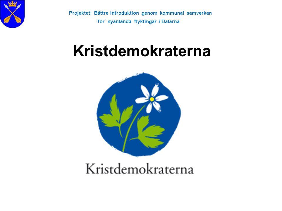 Projektet: Bättre introduktion genom kommunal samverkan för nyanlända flyktingar i Dalarna Kristdemokraterna