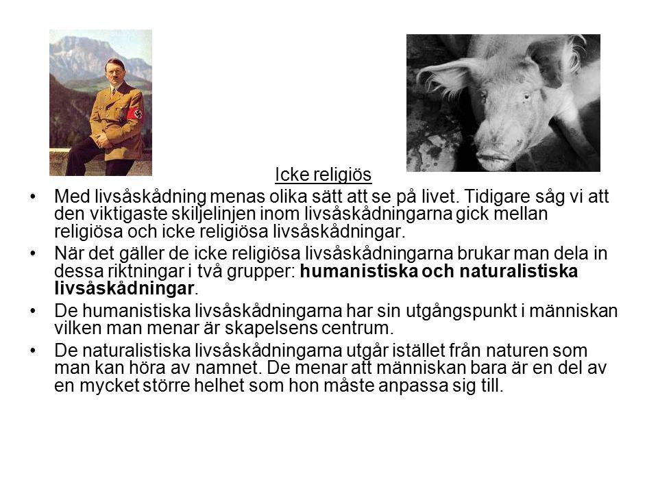 vad är icke religiös livsåskådning