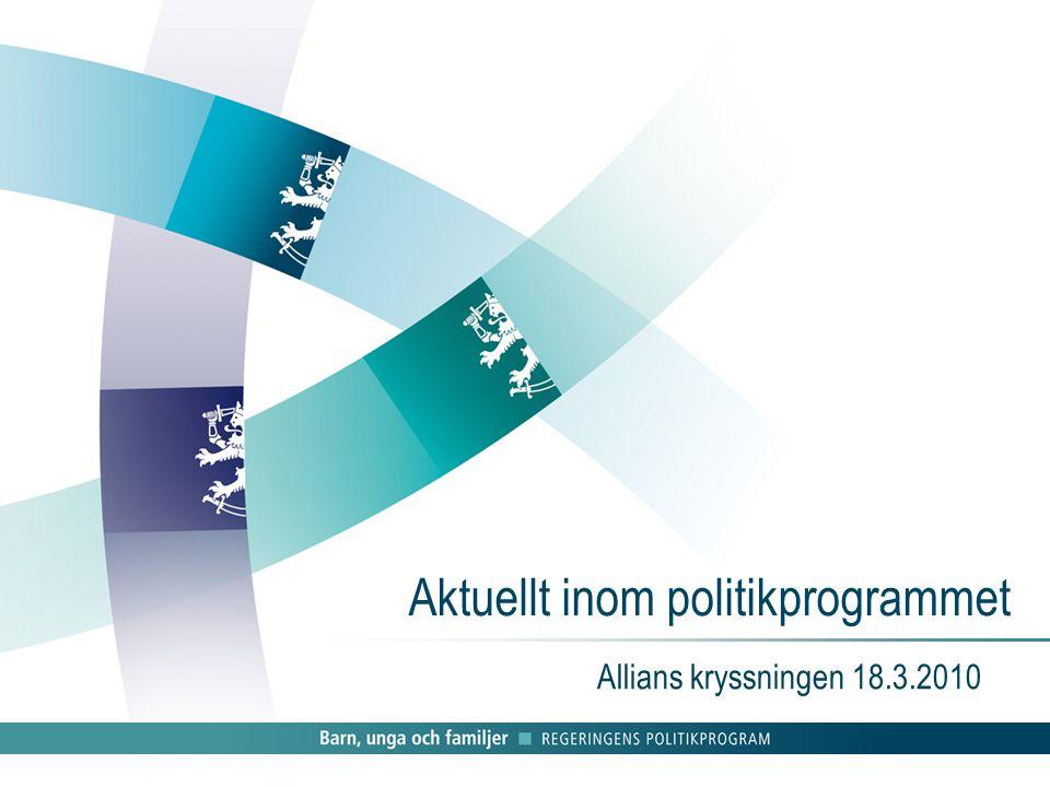 Aktuellt inom politikprogrammet Allians kryssningen 18.3.2010