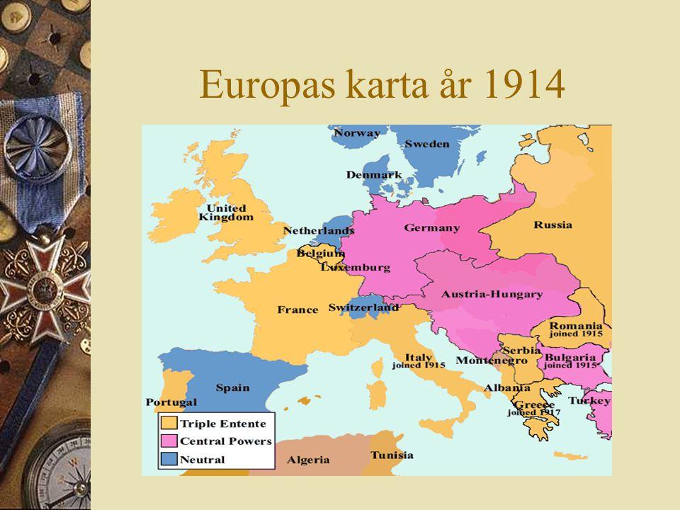 Europas karta år 1914 