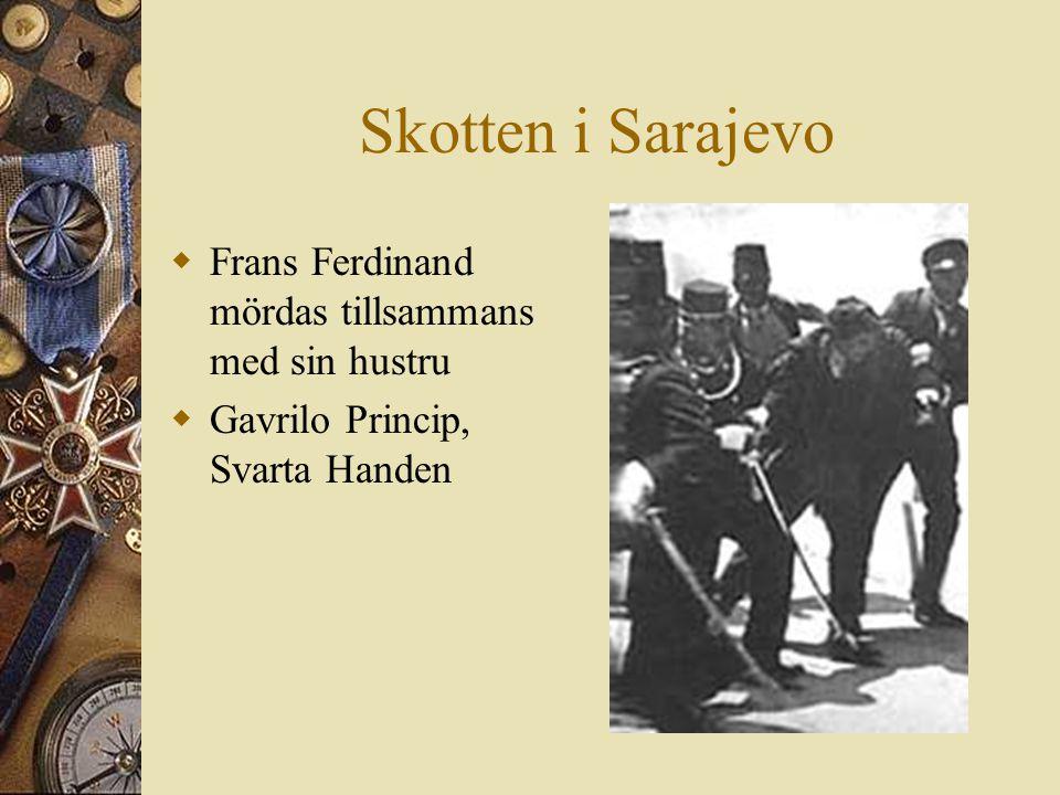Skotten i Sarajevo  Frans Ferdinand mördas tillsammans med sin hustru  Gavrilo Princip, Svarta Handen 