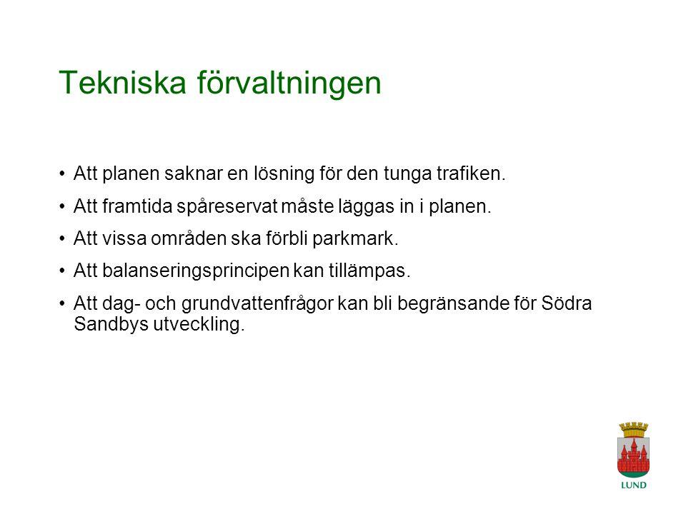 A Tingvar 2006-04-19 Tekniska förvaltningen Att planen saknar en lösning för den tunga trafiken.