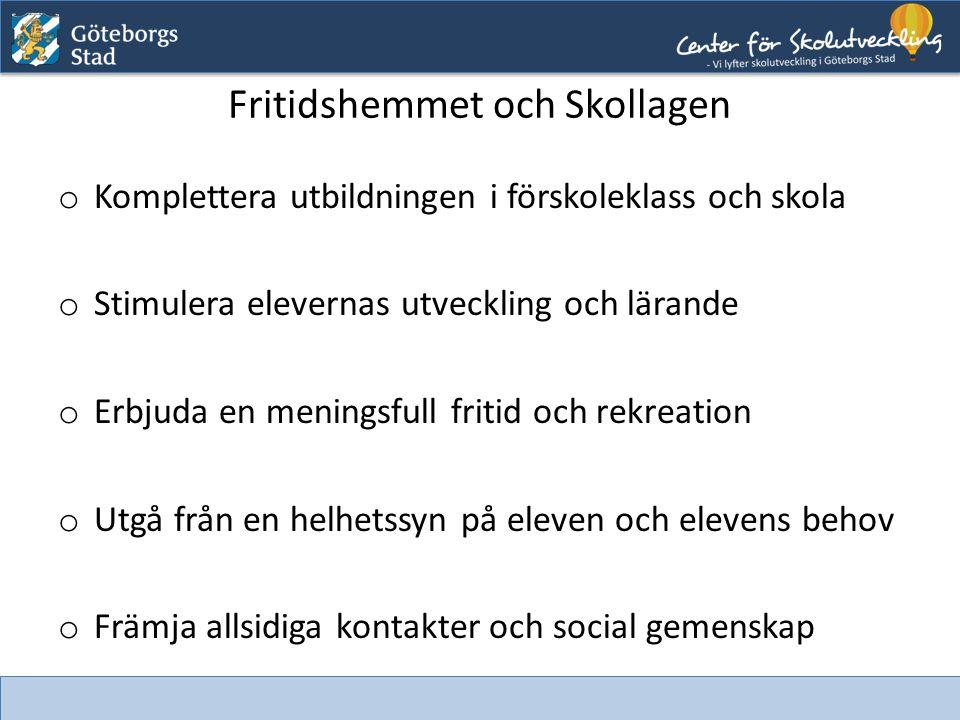 Fritidshemmet och Lgr11 Del 1 o Värdegrund och uppdrag ex.