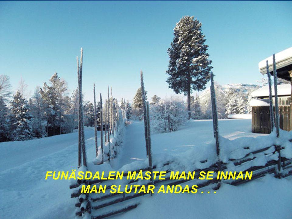 FUNÄSDALEN MÅSTE MAN SE INNAN MAN SLUTAR ANDAS...