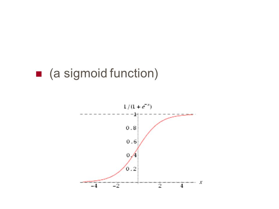 (a sigmoid function)