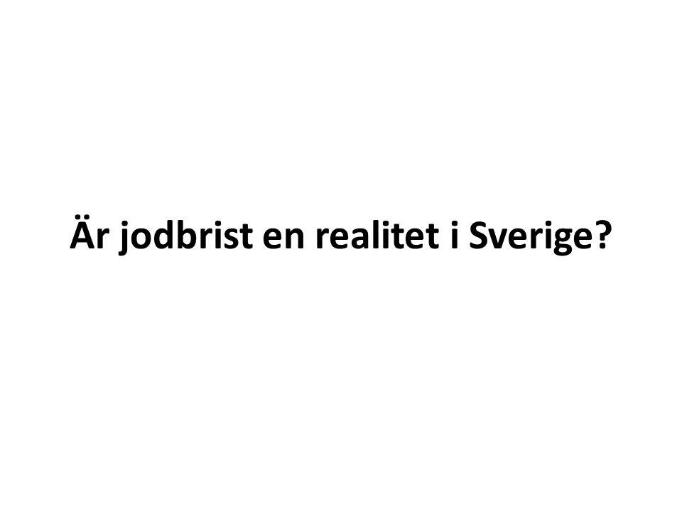 Är jodbrist en realitet i Sverige?