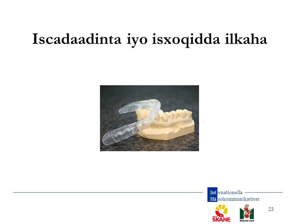 Internationella Hälsokommunikatörer 23 Iscadaadinta iyo isxoqidda ilkaha
