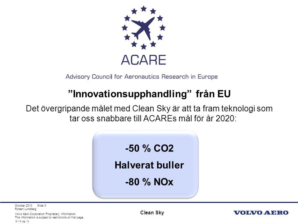 Volvo Aero Corporation Proprietary Information.