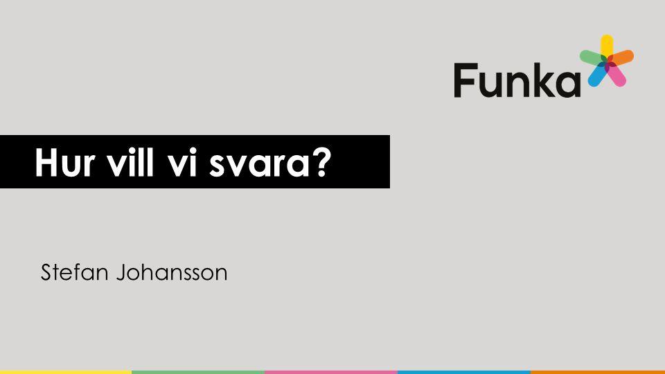 Hur vill vi svara? Stefan Johansson