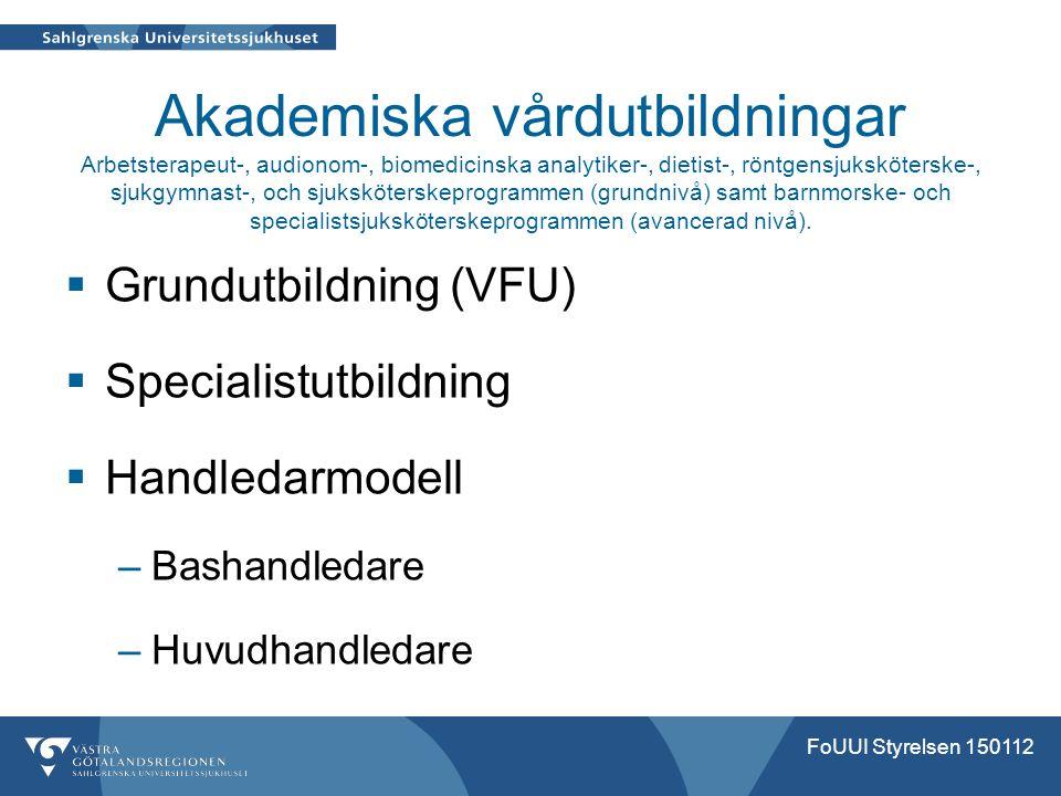 Akademiska vårdutbildningar Arbetsterapeut-, audionom-, biomedicinska analytiker-, dietist-, röntgensjuksköterske-, sjukgymnast-, och sjuksköterskepro