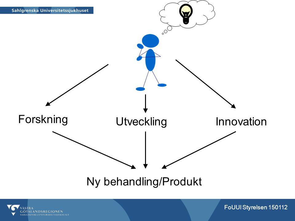 Ny behandling/Produkt Forskning Utveckling Innovation FoUUI Styrelsen 150112