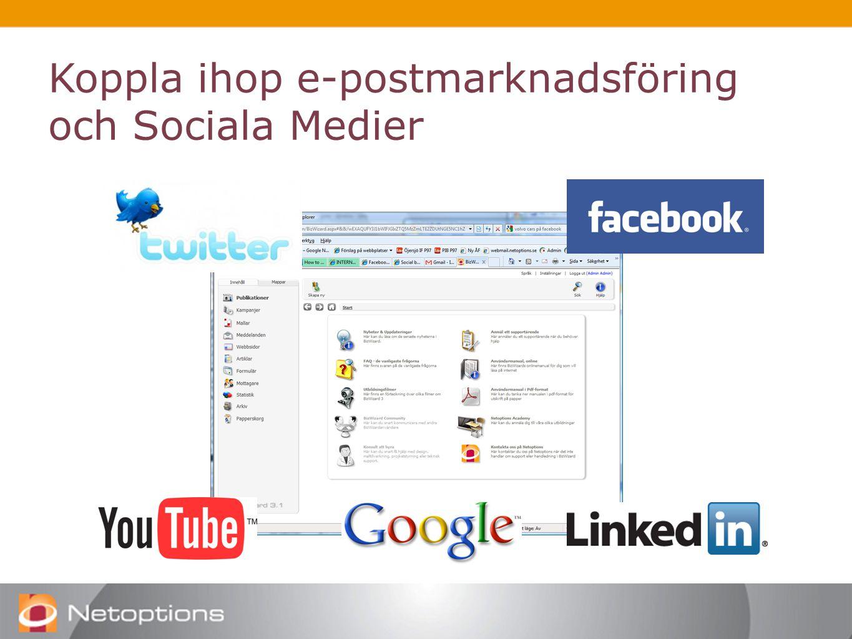 Koppla ihop e-postmarknadsföring och Sociala Medier