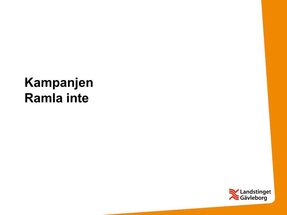 Kampanjen Ramla inte