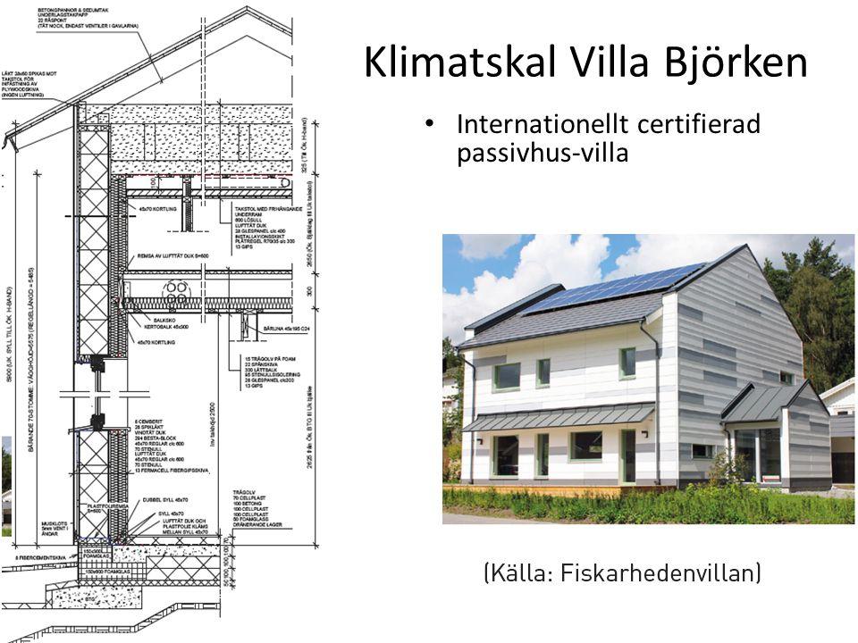 Klimatskal Villa Björken Internationellt certifierad passivhus-villa