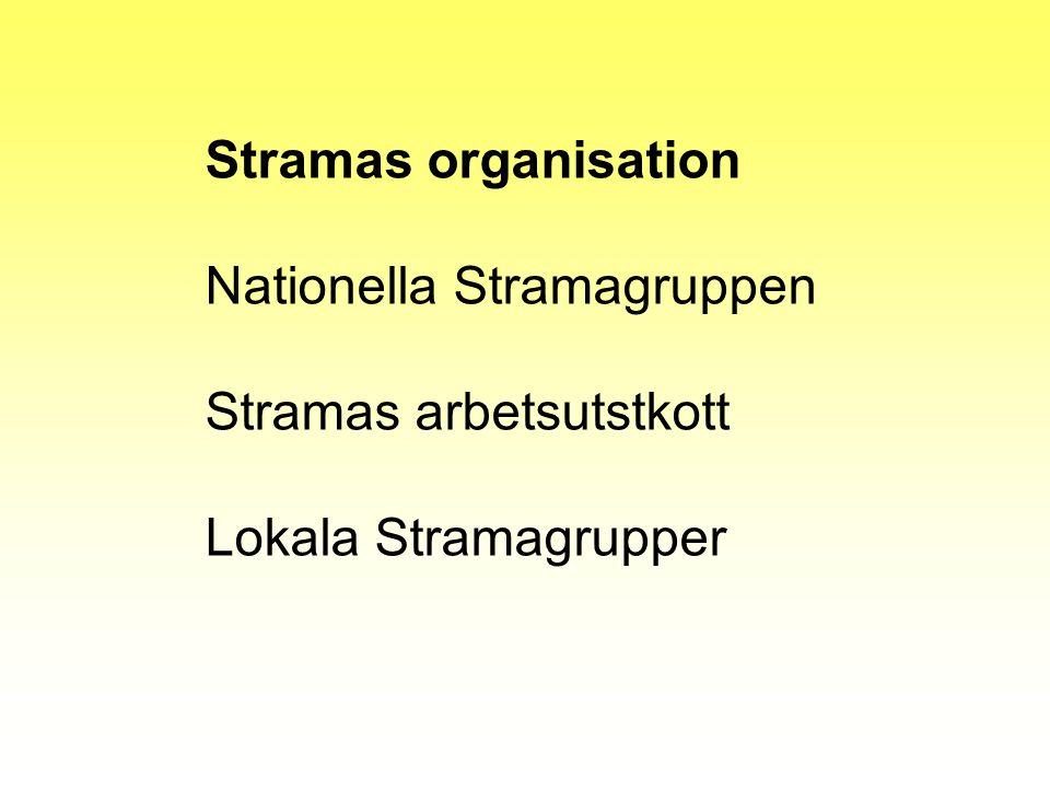 Stramas organisation Nationella Stramagruppen Stramas arbetsutstkott Lokala Stramagrupper