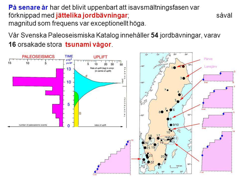 Utbredning av olika deformationstyper vid ett M 7 skalv (Serva, 1992).