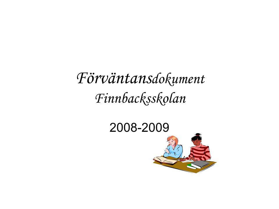 Förväntans dokument Finnbacksskolan 2008-2009