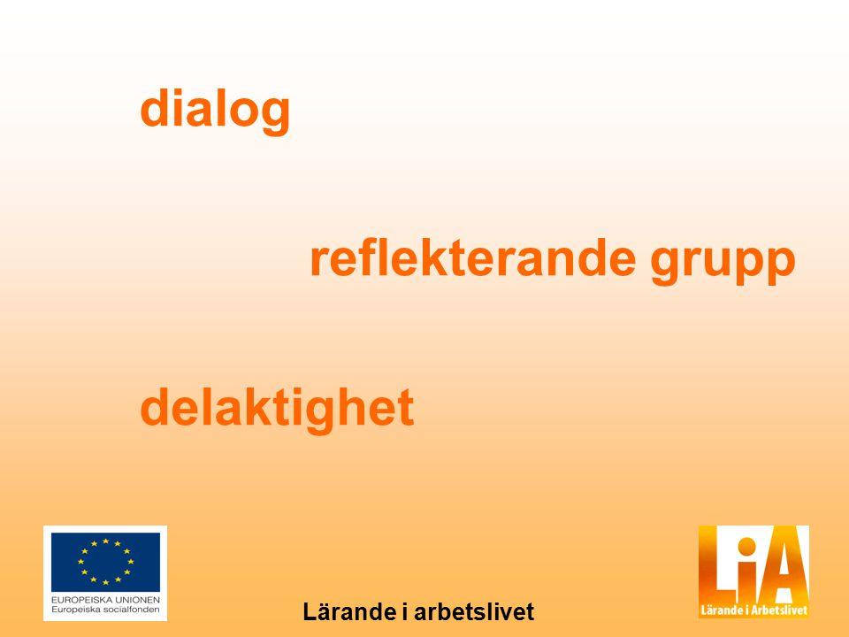 dialog reflekterande grupp delaktighet