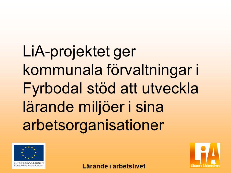 Lärande i arbetslivet LiA-projektet ger kommunala förvaltningar i Fyrbodal stöd att utveckla lärande miljöer i sina arbetsorganisationer