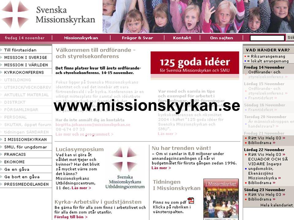 Två vägar för att ge till hela Missionskyrkan Kyrkoavgiften till församlingarna Missionsgåvan till det gemensamma Kyrkoavgift + Missionsgåvan = 2000-talets kollektbox